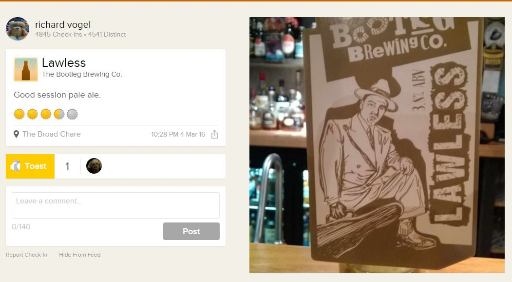 Bootleg Brewing Co - Untappd Image
