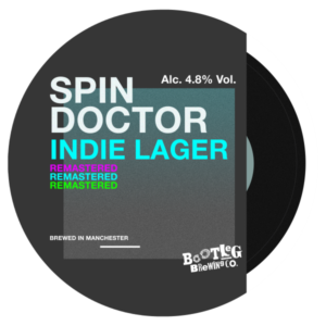Spin Doctor Remastered pump clip logo