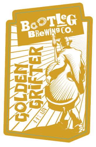 Golden Grifter Ale by Bootleg Brewing Co