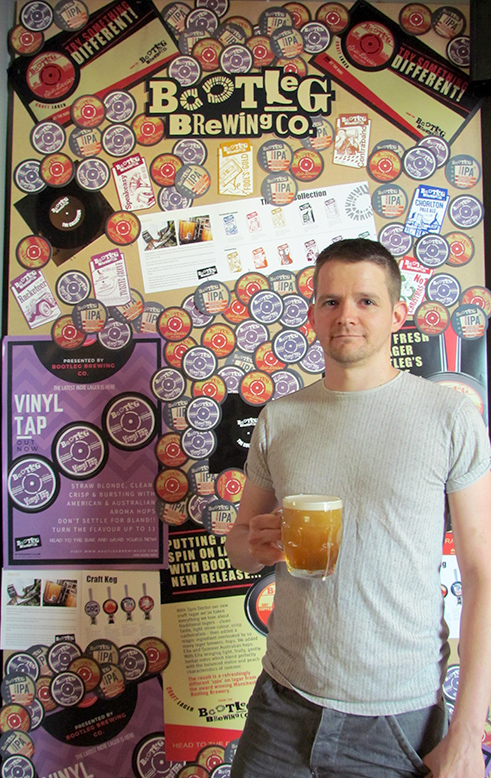 Bootleg Homebrew competition winner, Craig Reay with Brew Camp beer