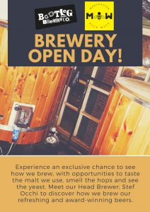 Bootleg Brewing Co Open Day Event for Manchester Beer Week 2018.